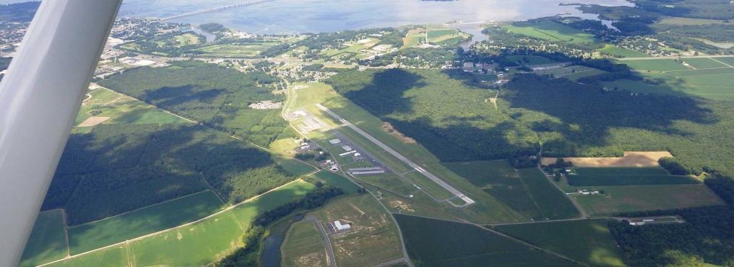 aerial image of Cambridge Dorchester airport