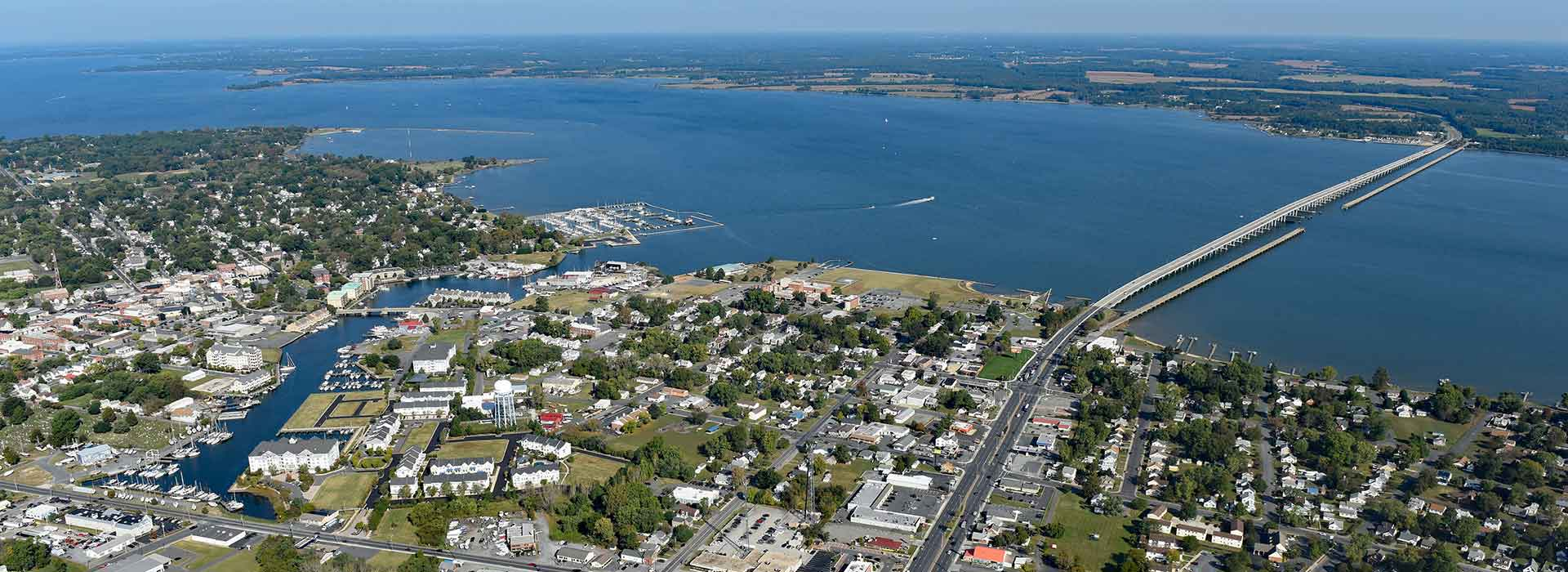 Cambridge MD city aerial